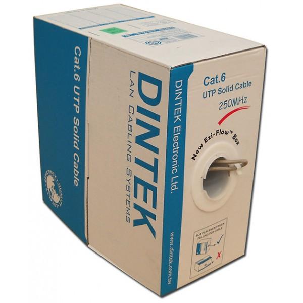 Cáp mạng Dintek CAT.6 UTP, 4 pair, 23AWG, 305m/box (1101-04004)
