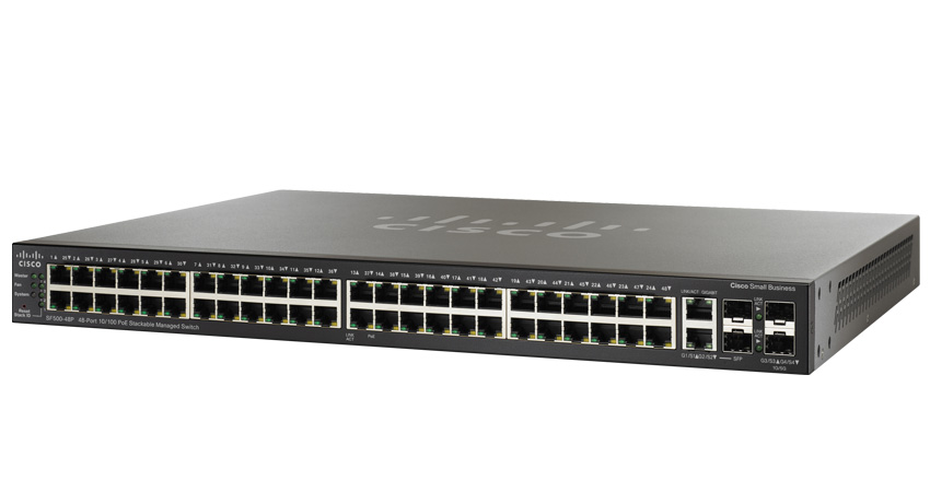 Cisco SF500-48P 48P-Port 10 100 Stackable Managed Switch (SF500-48-K9)