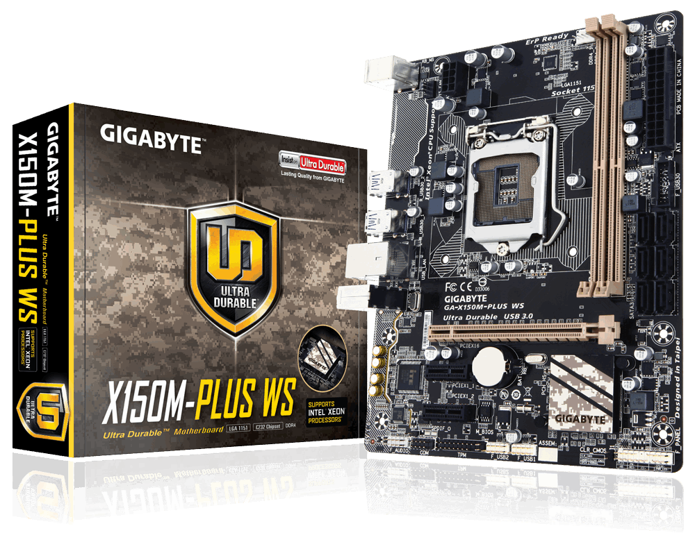 Main Server Gigabyte GA-X150M-PLUS WS, Socket 1151 (GA-X150M-PLUS WS)