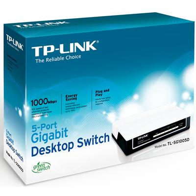Switch TP-Link TL-SG1005D, Loại để bàn 5 cổng tốc độ Gigabit