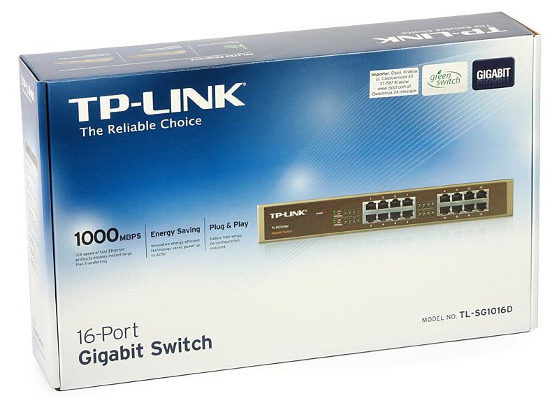 Switch TP-Link TL-SG1016D, lắp tủ hoặc để bàn 16 cổng tốc độ Gigabit