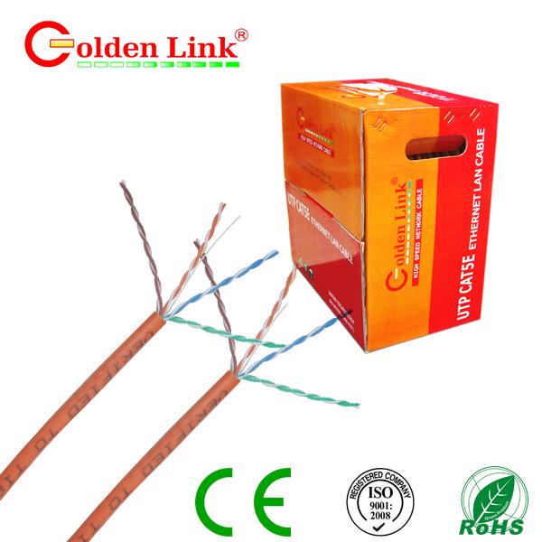 Dây cáp mạng Golden Link - 4 pair (UTP Cat 5e) 100m màu cam
