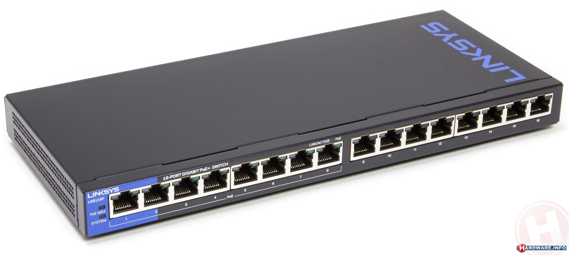 Switch Linksys LGS116P, 16-Port Desktop Business Gigabit PoE (LGS116P)