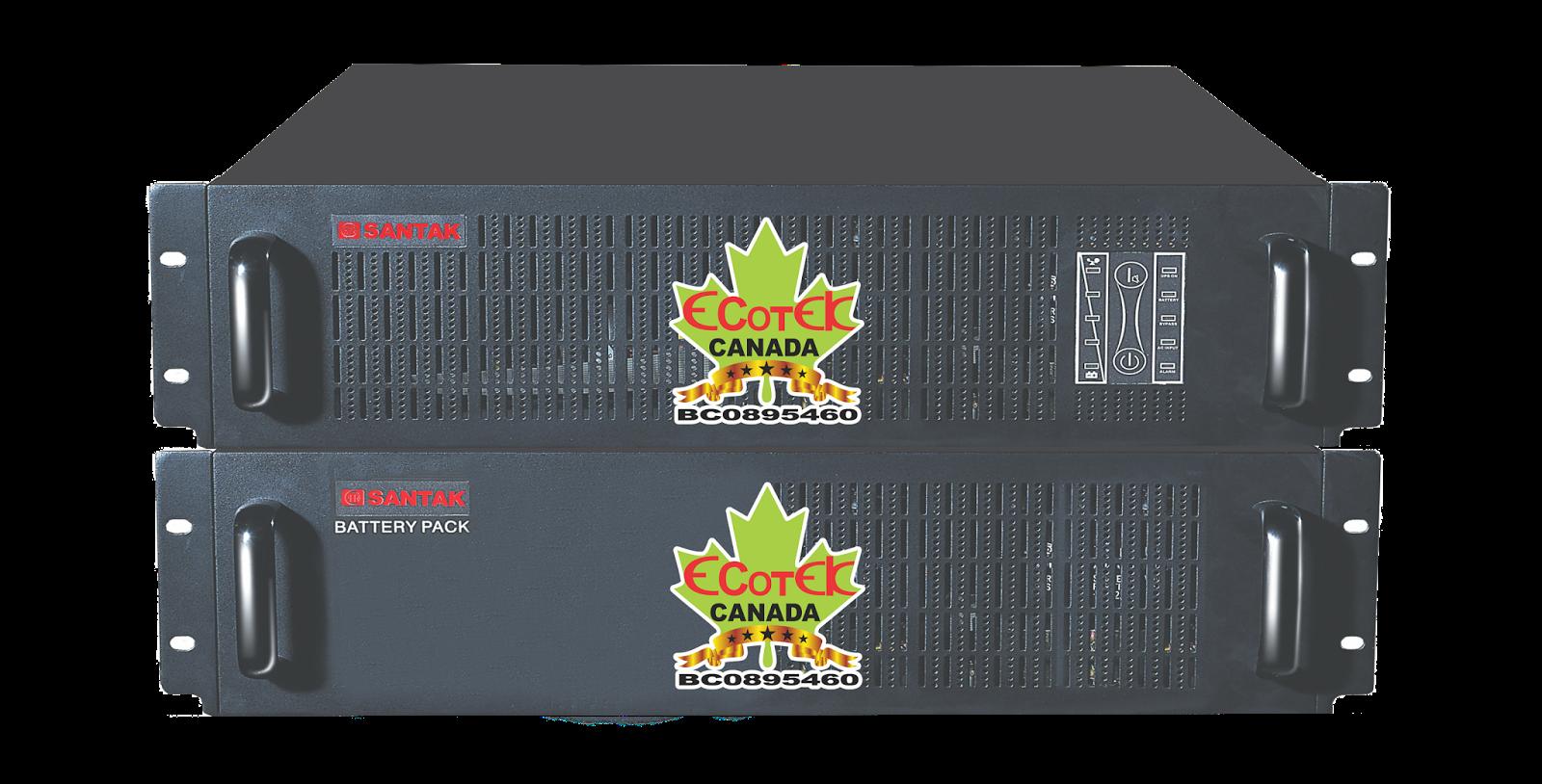 UPS 6000VA SANTAK ONLINE 6KVA–MODEL C6KR